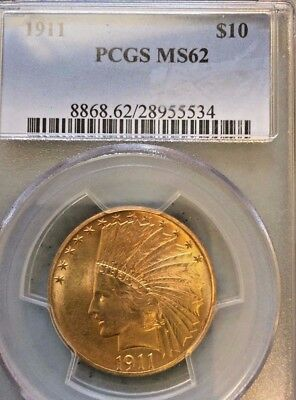 1911 Gold Indian Head $10 PCGS MS62