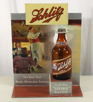 Schlitz Store Display Vitamin-D Steinie Bottle Jos. Schlitz Milwaukee, Wisconsin