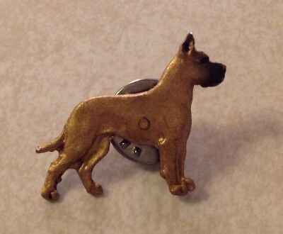 """GREAT DANE FAWN small petite hat pin broche jewerly 1"""" tall x 1-1/8"""" wide"""