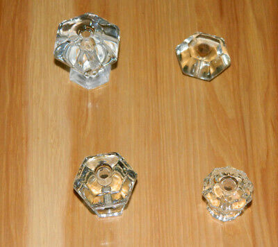 Vintage Glass Drawer Pulls 4 Different Sizes