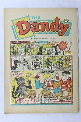 The Dandy 1481 April 11th 1970 Vintage UK Comic Korky The Cat Desperate Dan