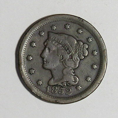 1852 Large Cent.....coronet Cent...nice Coin!!