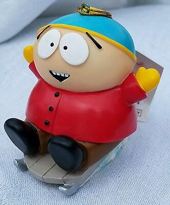 South Park Comedy Central CARTMAN ON SLED X-MAS ORNAMENT HOLIDAY K ADLER MINT