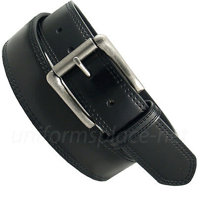 """Dickies Leather Belt Mens Approx. 1.5"""" Double Stitch Row belt DI0214 Black"""