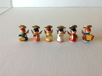 6pc Vintage Wooden ~Angel Christmas band~ Made in Italy 1.5 ""