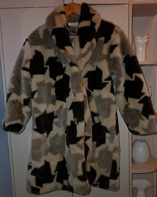 Vintage American Made  Funky  Fake Fur Jacket  Size 14 Excellent Condition