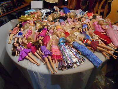 barbie doll mixed lot#4-mackie faces/brunettes/articulated & more