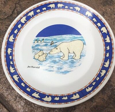 """Jan Thornhill for UNICEF Polar Bear Plate - 7 1/2"""" Excellent"""