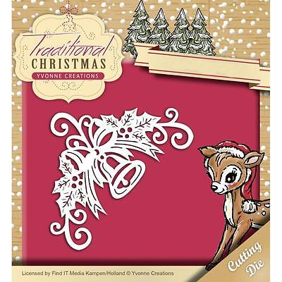 Yvonne Creations *Bell Corner* Die - Christmas - Use with Cuttlebug and Sizzix