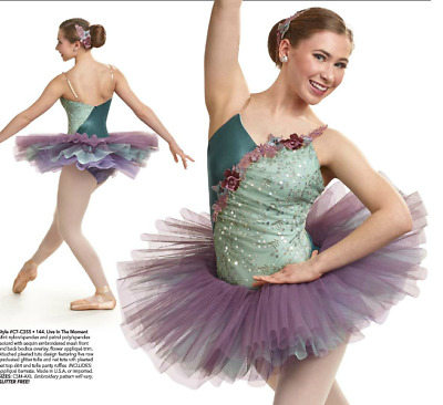 """""""Live In The Moment"""" Pleated Ballet Tutu Costume Curtain Call 2017 Adult S or M"""