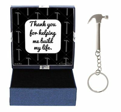 Birthday Gifts for Dad Daughter Gifts Hammer Keychain & Gift Box Bundle