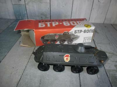 Vintage RUSSIAN Soviet Union Kids Military Metal Toy TANK CARRIER in Box USSR