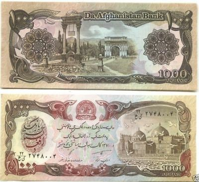 Old AFGHANISTAN Two Bank Note Desert Storm US War Army Unc Banknote TALIBAN Lot