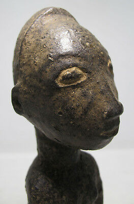 Antique/Ancient Africa Kingdom of Bamum Tribe Wood Polychrome Carving Statue yqz