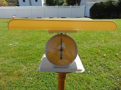 Vintage Sears Infant Scale Yellow 25lbs Antique RETRO GREAT GIFT IDEA