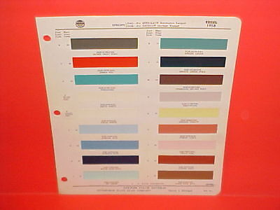 1958 Edsel Ranger Pacer Corsair Citation Convertible Roundup Bermuda Paint Chips