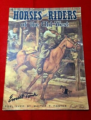 Vintage Horses and Riders of the Old West by Ernest Tonk, How to Draw series
