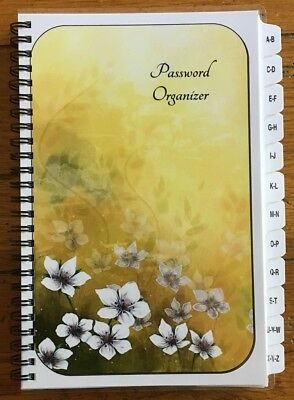 Large Print Password Book Internet Website Organizer Personalized Gift