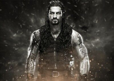 Roman Reigns Poster Print Photo Picture A4 A3 - Perfect For Any Wwe Cena Fan