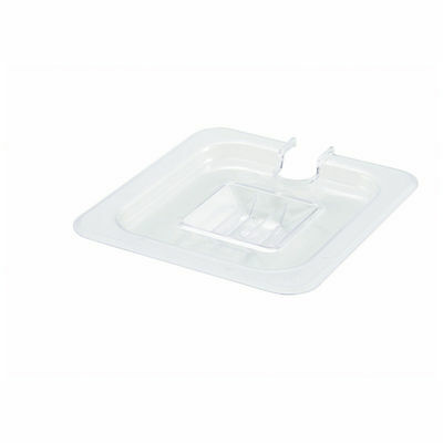Winco SP7600C (Lot of 6), One-Sixth Size Polycarbonate Food Pan Slotted Cover