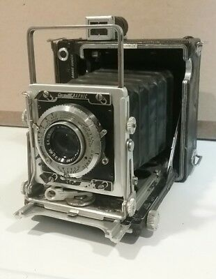 Vintage Graflex Kalart Range Finder Crown Graphic Folding Camera not working