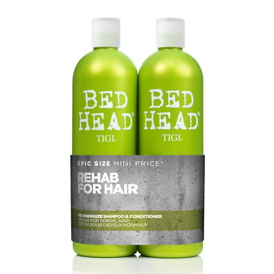 TIGI Bed Head REHAB FOR HAIR Re-Energize Shampoo & Conditioner - 750ml Tween
