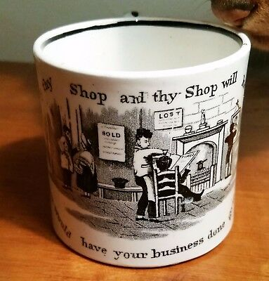 "Franklins Maxim Mug ""Keep Thy Shop and Thy Shop Will Keep Thee"""