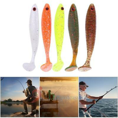 5Pcs Silicone Colorful Soft Lure Fishing Lures Baits Fishing Tackle Accessories