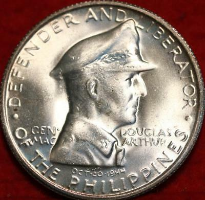 Uncirculated 1947-S Philippines Peso Silver Great Toning Foreign Coin Free S/H