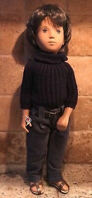 Sasha Gregor Dark Brunette Hair Boy Doll Brown Eyes Serie England Turtleneck
