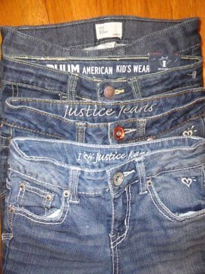 Girls Jeans 10 Skinny Slim JUSTICE GAP AMERICAN EAGLE New Nwts Euc