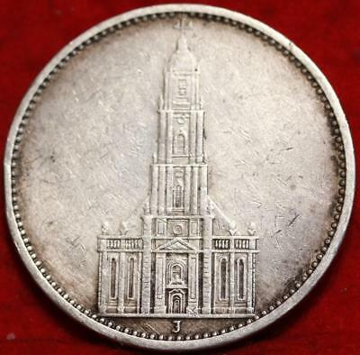 1934 Germany 5 Mark Silver Foreign Coin Free S/H