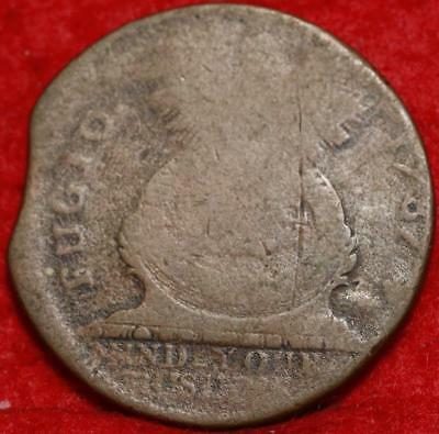 1787 Colonial Fugio Clipped Cent Free S/H