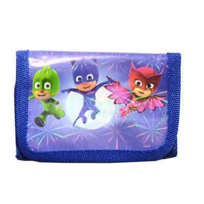 Xmas PJ MASK Boys Coin Purse Kids Trifold Zip Wallets Cartoon Birthday Party