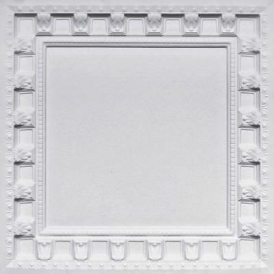 Pvc Decorative Ceiling Tile 2 X2 Lot Of 25 White Matt