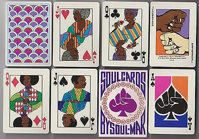 1973  SOUL  Afro American  ARTWORK Playing Cards >  Black Americana  RARE Sealed