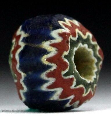 23) Native American 7 Seven Layer Chevron Old Trade Bead Indian Artifact 1500 FL