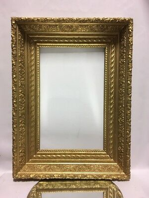 """Antique Victorian Wood 19th Century Picture Frame Fits 12 1/4"""" x 19 1/2"""""""