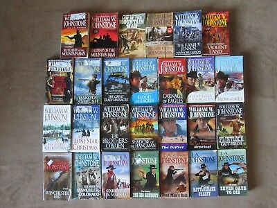 Lot of 27 WILLIAM W. JOHNSTONE Western Paperbacks, MOUNTAIN MAN, Eagles