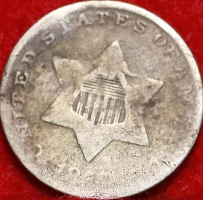 1858 Philadelphia Mint Silver Three Cent Coin Free Shipping