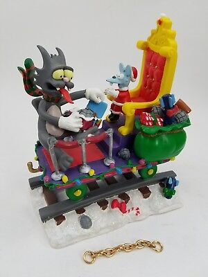The Simpsons Christmas Express Train THE GIFT OF CHRISTMAS Figurine With COA