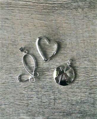 925 Sterling Silver Pendants bulk x 3 NEW