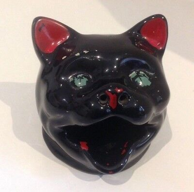 WEMBLEY BLACK CAT HEAD ASHTRAY. Australian Wembley Ware.
