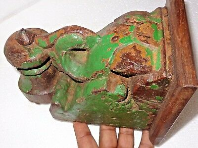 1900s Architectural Wood Corbel redefine wall fixing Decor Carved bird Color Q1