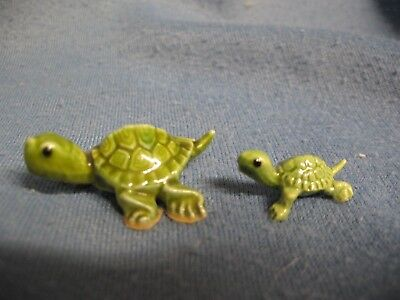 Hagen Renaker miniature Box Turtle mom and baby A-479 and A-419 NR Free Shipping