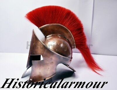 300 Medieval King Roman Leonidas Spartan Helmet W/leather Liner Movie Helmet St7