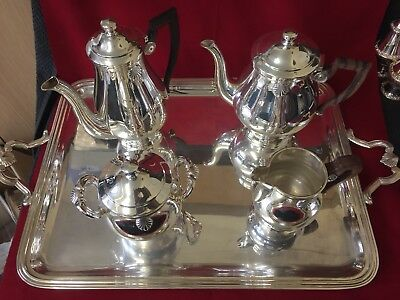 Elegant Christofle  French Art Deco Tea/Coffee Set With Large tray
