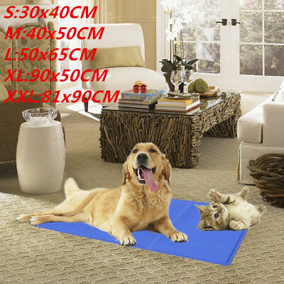 NEW 5 Sizes Dog Cat Cool Bed Gel Mat Non-Toxic Cooling Summer Bed Pad Large XXL