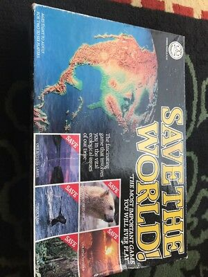 Save The World Vintage Board Game Crown & Andrews 1990