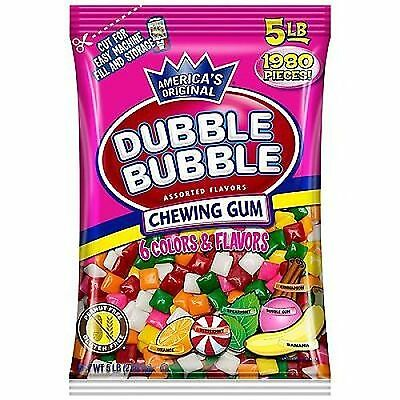 Dubble Bubble Chicle Tabs Assorted 5LB BAG free shipping